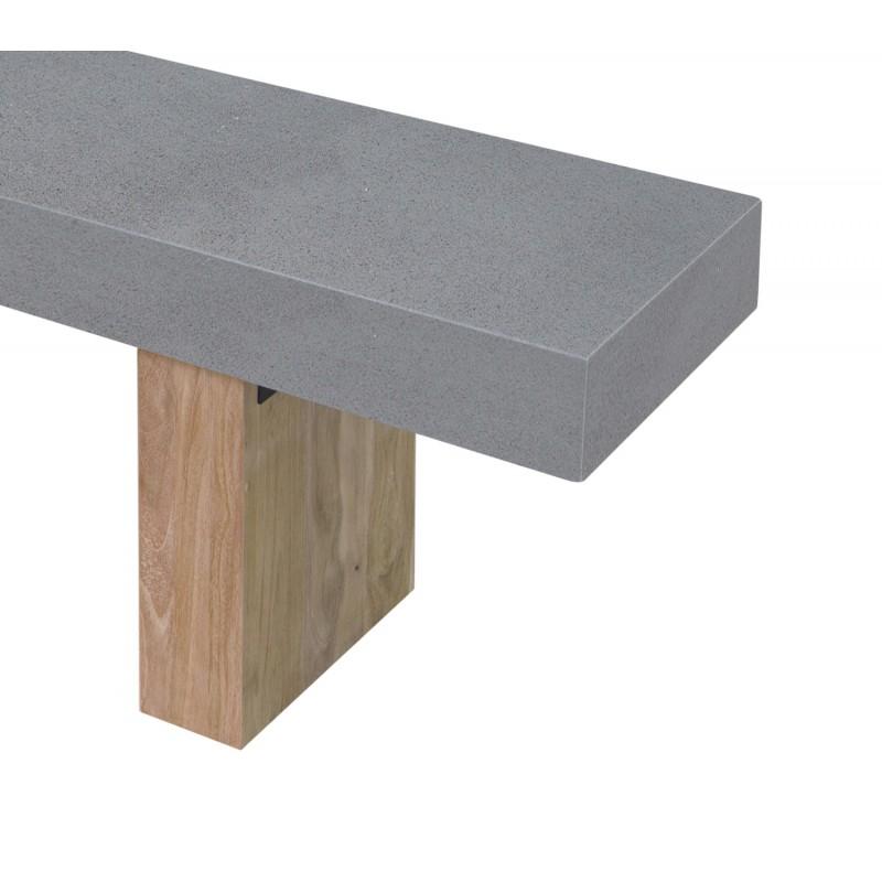Banco de diseño de pie de teca maciza OXANA (160 cm) (gris) - image 50331
