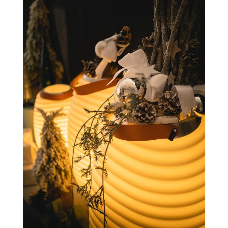 Lampe LED seau à champagne haut-parleur enceinte bluetooth KOODUU SYNERGIE S 35 (blanc) - image 50346
