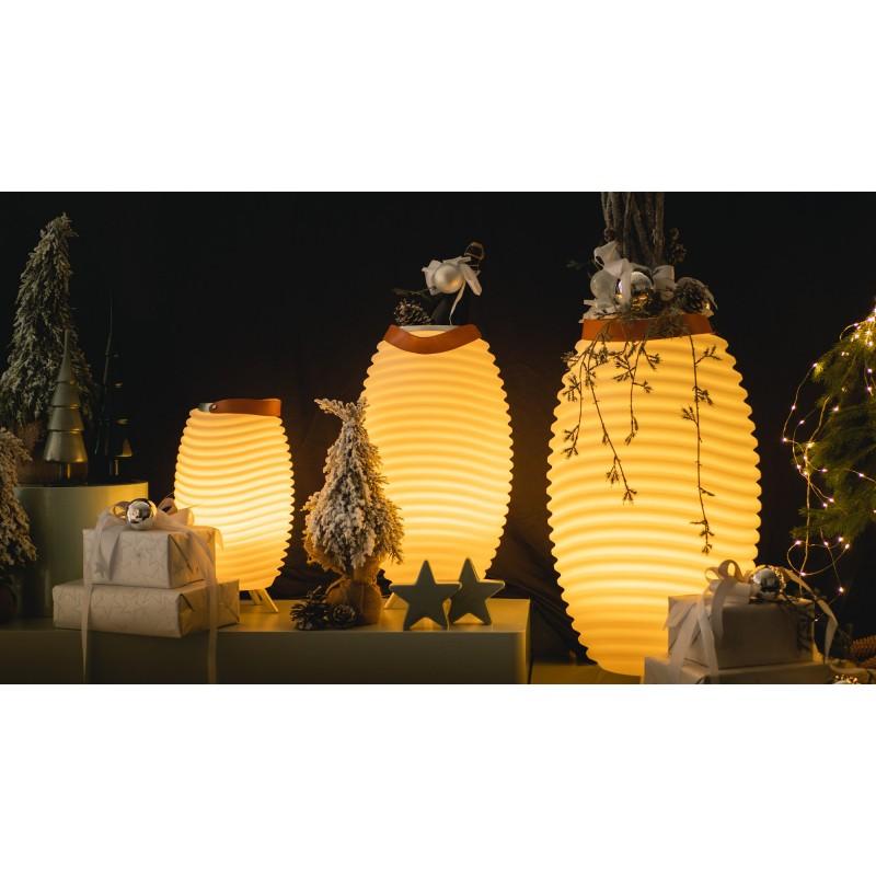 Lampe LED seau à champagne haut-parleur enceinte bluetooth KOODUU SYNERGIE S 50 (blanc) - image 50347