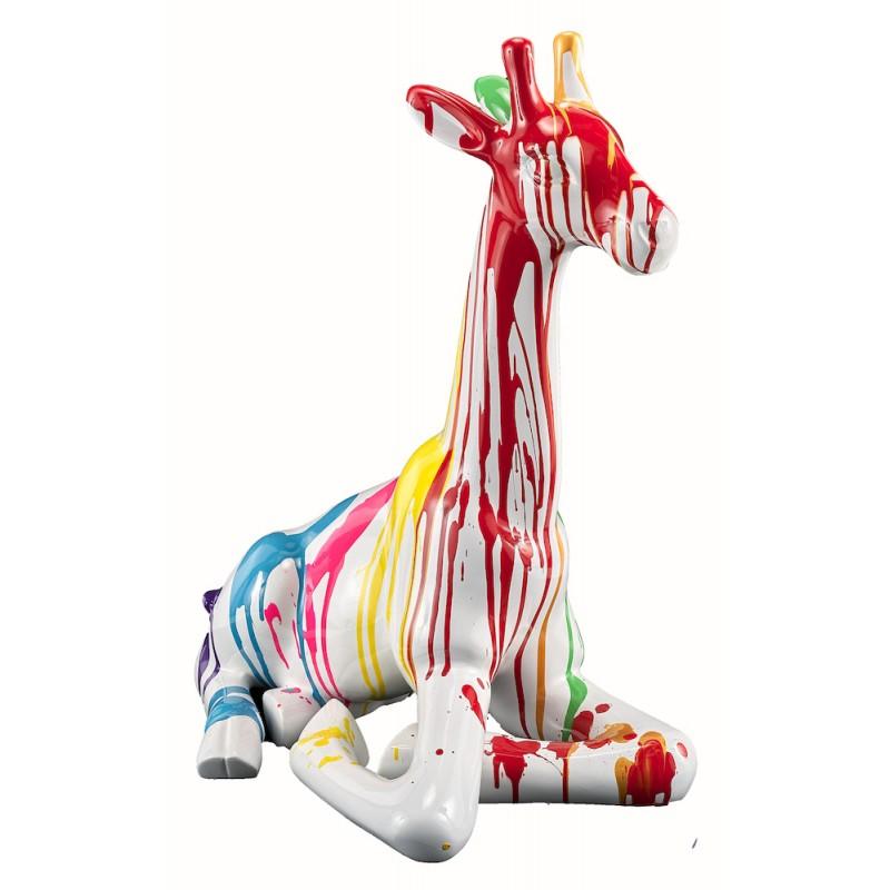 Statue sculpture décorative design GIRAFON TRASH BANC (H60) (Multicolore) - image 50389