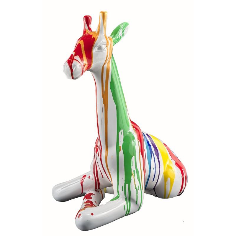 Statue sculpture décorative design GIRAFON TRASH BANC (H60) (Multicolore) - image 50390
