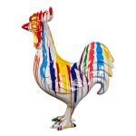 Scultura decorativa statua design COQ TRASH (H170) (Multicolore)