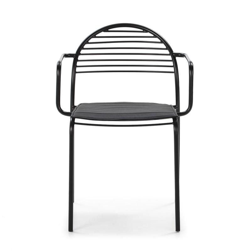 Chaise 57x55x80 Métal Noir Cuir synthétique Noir - image 50434