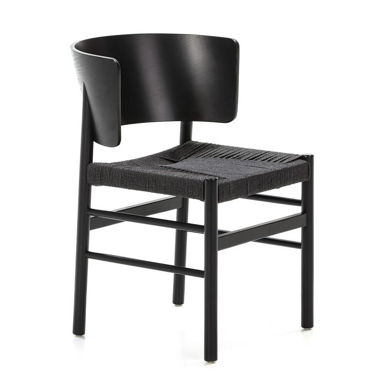 Chaise 52x56x75 Bois Corde Noir