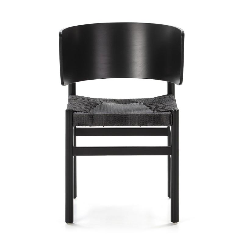 Chaise 52x56x75 Bois Corde Noir - image 50471