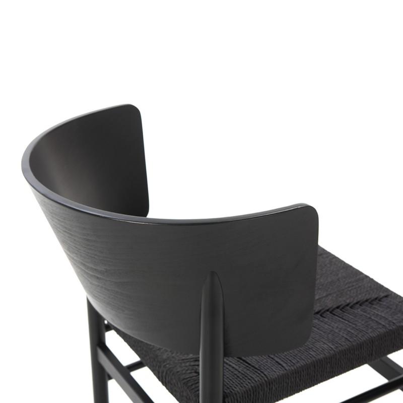 Chaise 52x56x75 Bois Corde Noir - image 50473