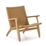 Sessel 70X74X74 Holz/Seil Natürlich