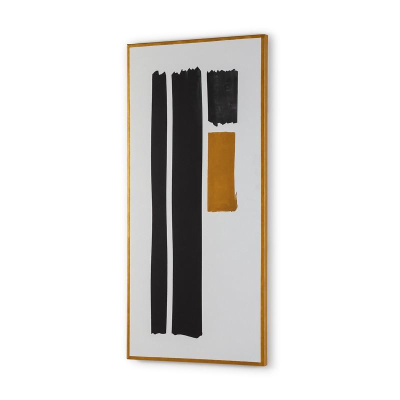 Toile 60x4x130 Blanc Noir Doré