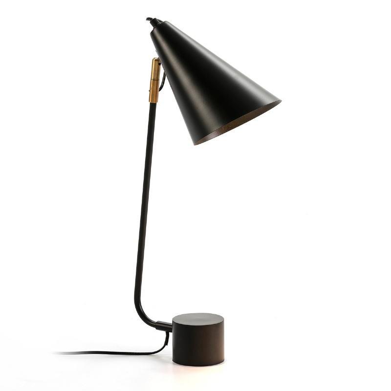 Lampe de Table 26x26x60 Métal Noir - image 50671