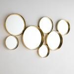 Spiegel 119X5X62 Glas / Metall Golden