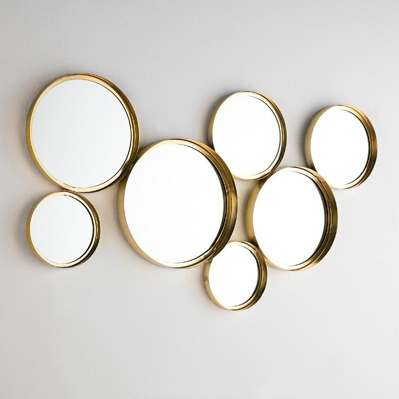 Espejo 119X5X62 Cristal Metal Dorado