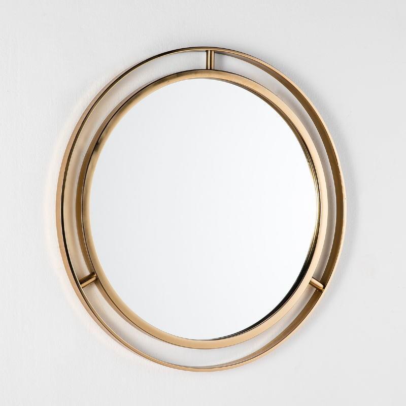 Espejo 61X3X61 Cristal Metal Dorado