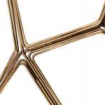 Folding Screen 125X3X174 Metal Golden