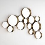 Spiegel 131X6X83 Glas / Metall Golden