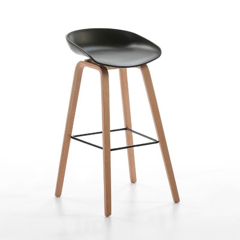 Hocker 50X46X83 Holz/Metall/Acryl Schwarz
