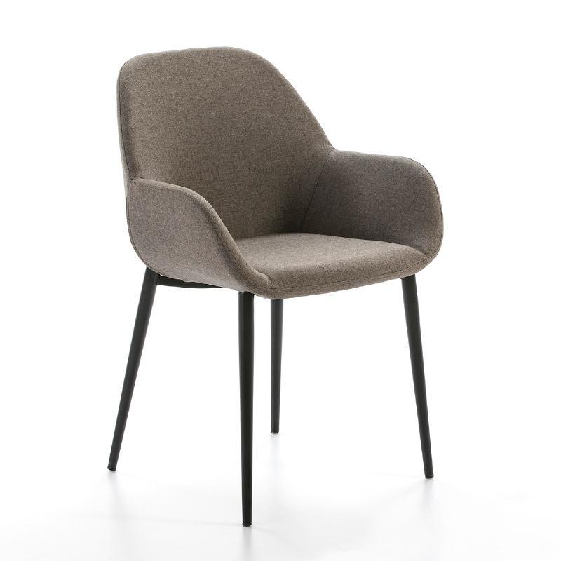 Chaise accourdoirs tissu marron 54x59x86 Métal Noir - image 50726