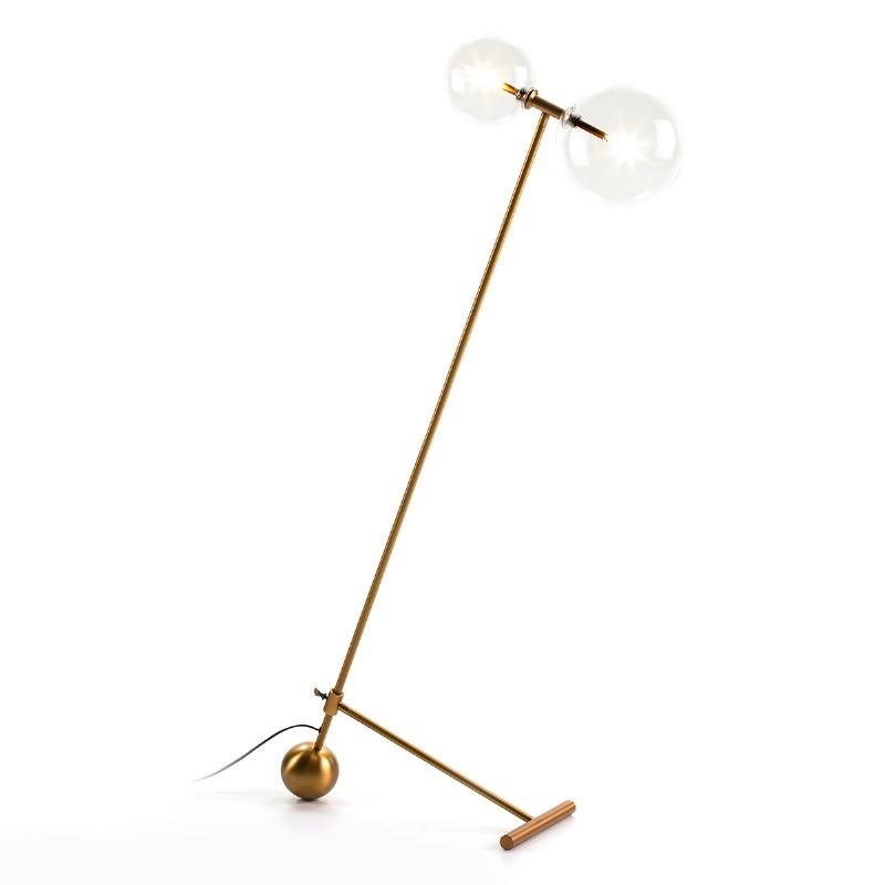 Stehlampe 80X24X130 Glas/Metall Golden