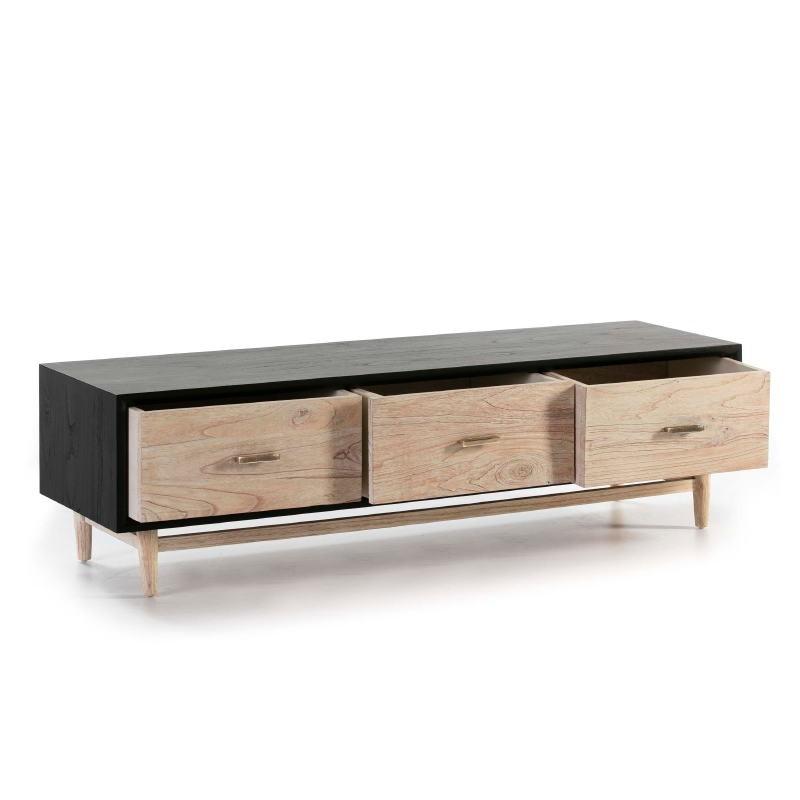 Tv Furniture 160X45X45 Wood Grey - image 50797