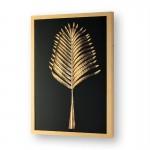 Frame 60X5X80 Glass Wood Golden Metal Golden Model 2