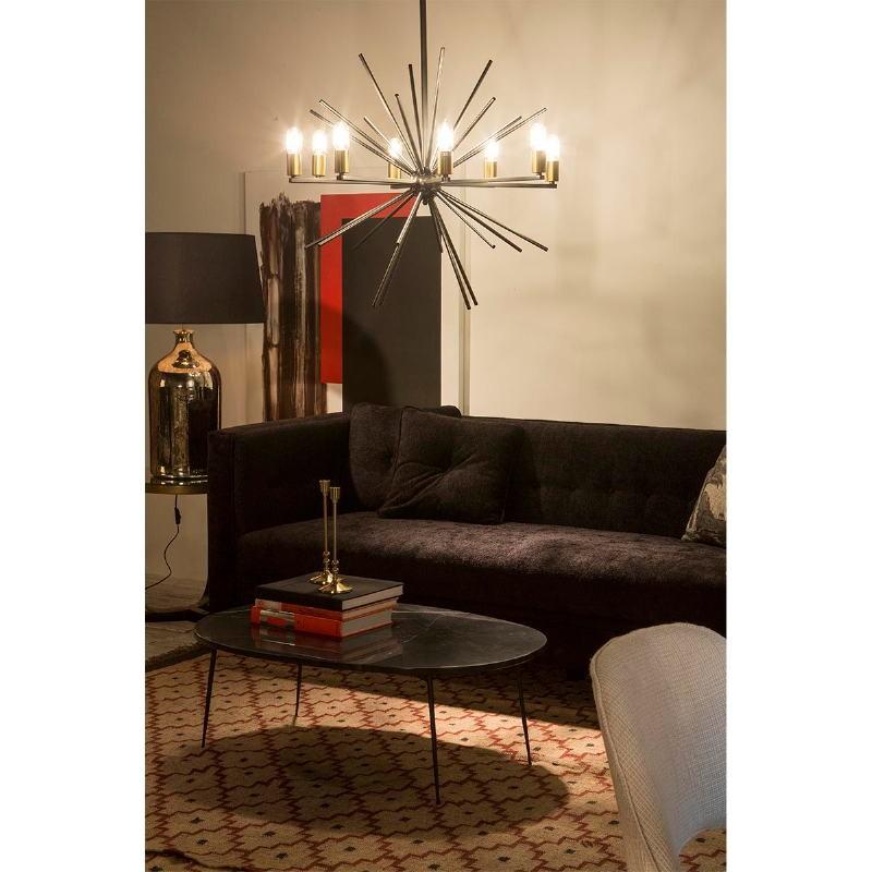 Lampe de Table sans abat-jour 28x28x60 Verre Or antique - image 50867