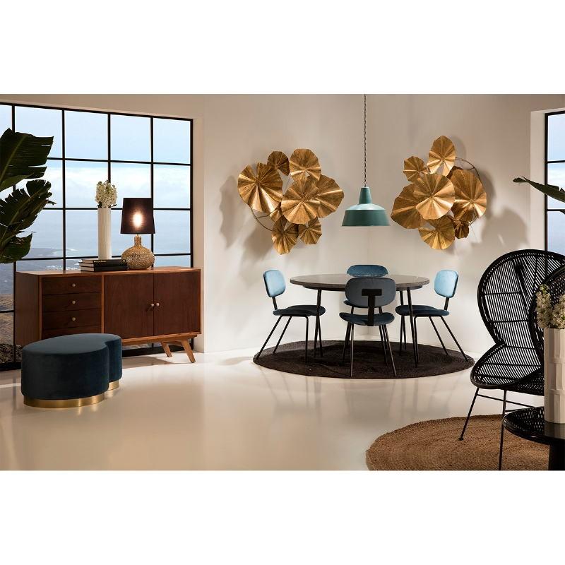 Hanging Lamp 45X45X40 Metal Blue White - image 50891