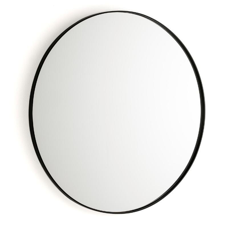 Espejo 80X3X80 Cristal Metal Negro