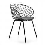 Desig Chair 57X50X79 Metal Black