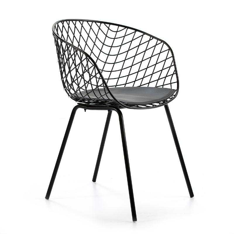 Chaise design 57x50x79 Métal Noir - image 50934