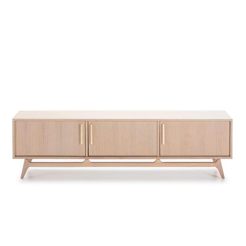 Tv Furniture 3 Doors 160X40X45 Wood Grey - image 50972