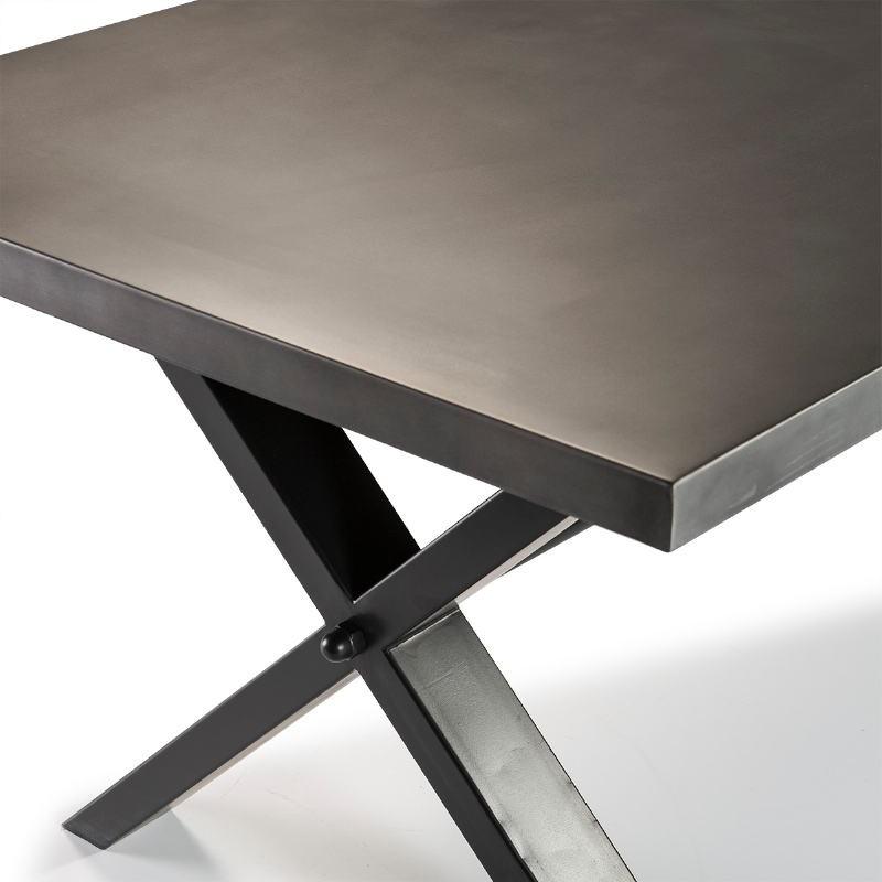 Mesa Comedor 238X100X75 Metal Natural Negro - image 51043