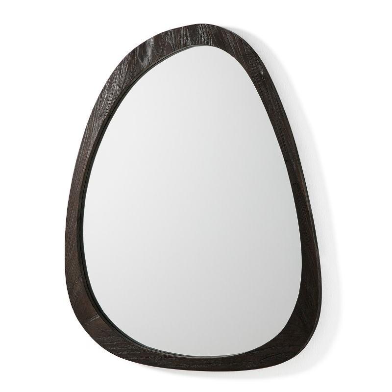 Miroir 101x3x79 Verre Bois Brun