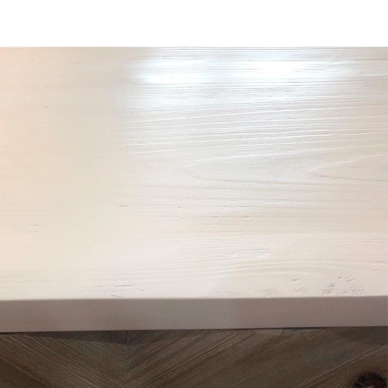 Anrichte 2 Türen 200X45X88 Holz/Metall Weiß/Natürlich/Golden - image 51107