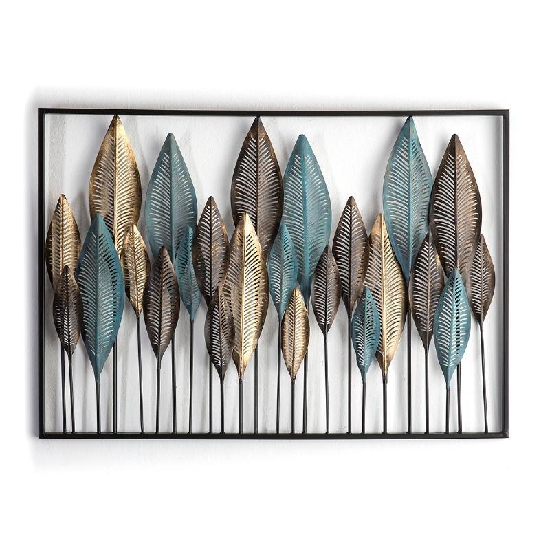 Escultura 101X3X71 Metal Azul Dorado Negro - image 51165