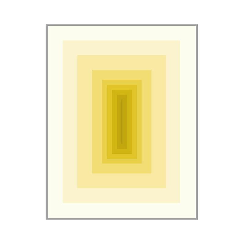 Tableau 100x3x130 Méthacrylate Jaune