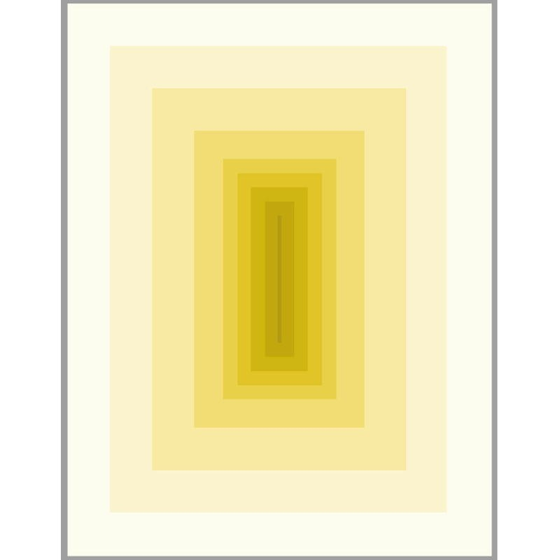 Tableau 150x3x200 Méthacrylate Jaune