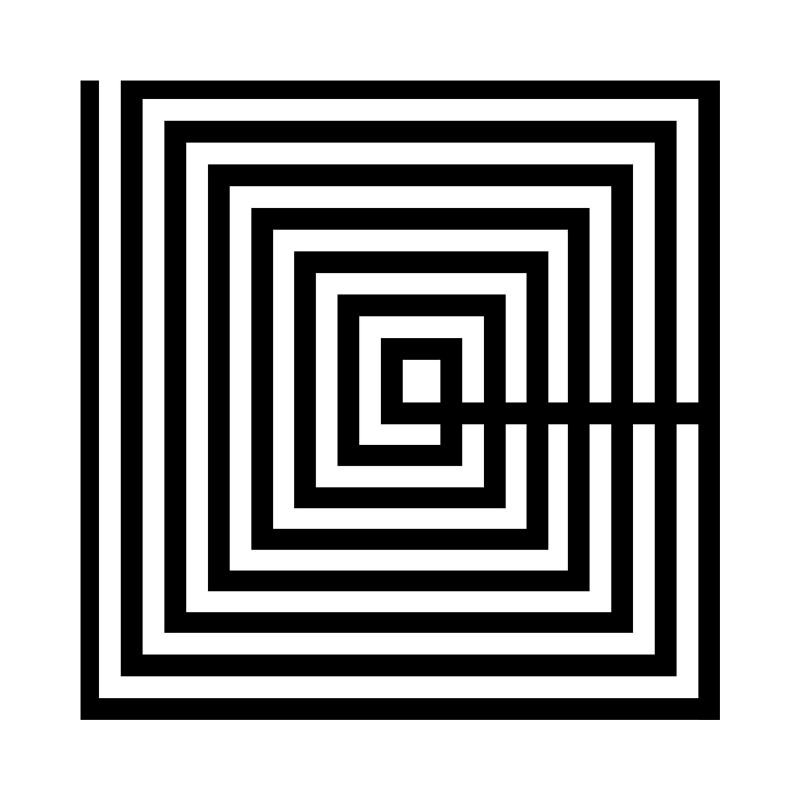 Tableau 50x3x50 Méthacrylate Noir Blanc