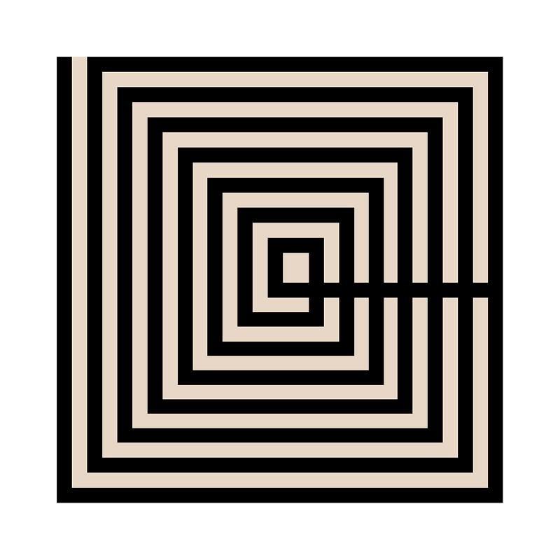 Tableau 50x3x50 Méthacrylate Noir Brun