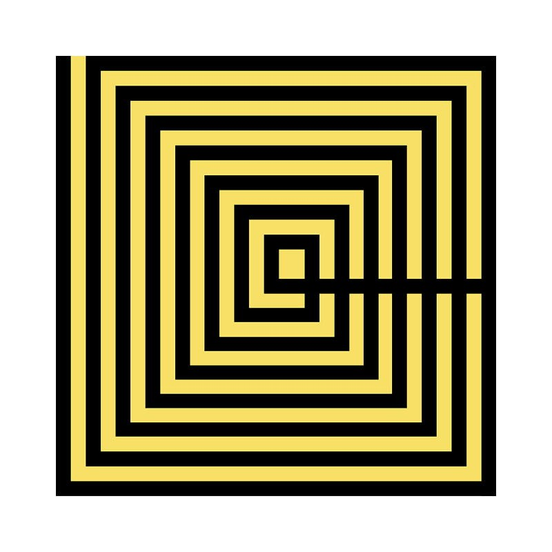 Frame 50X3X50 Methacrylate Black Yellow