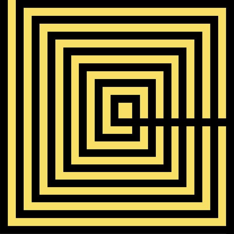 Frame 100X3X100 Methacrylate Black Yellow - image 51190