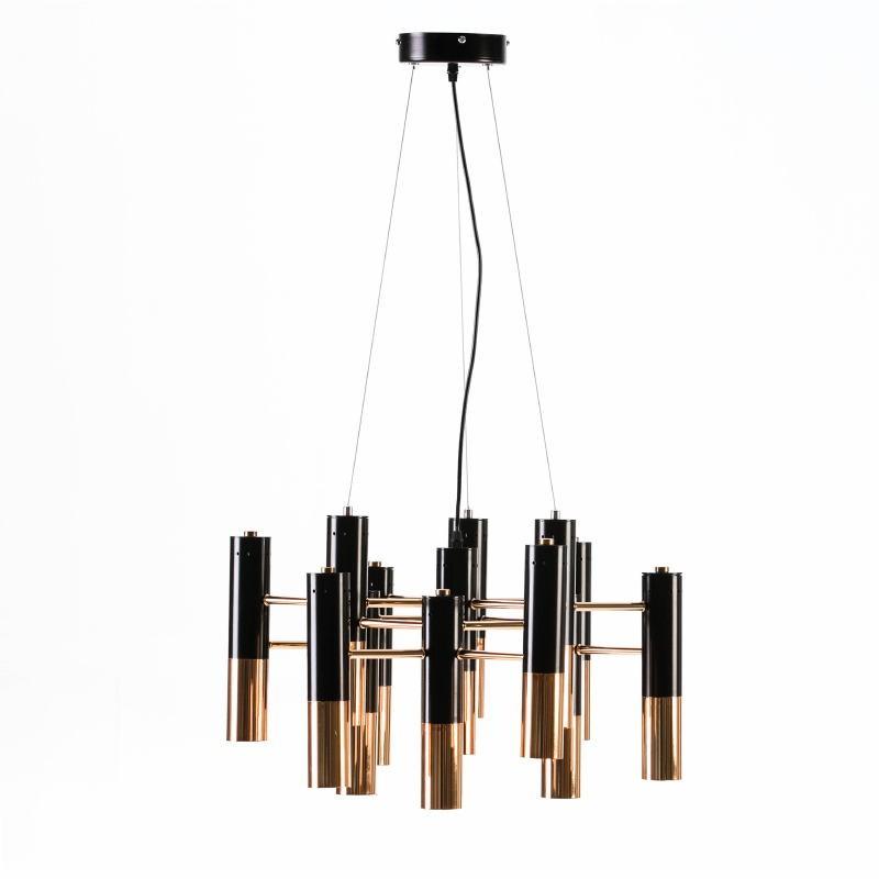 Lampada A Sospensione 59X52X39 Metallo Dorato Nero - image 51194