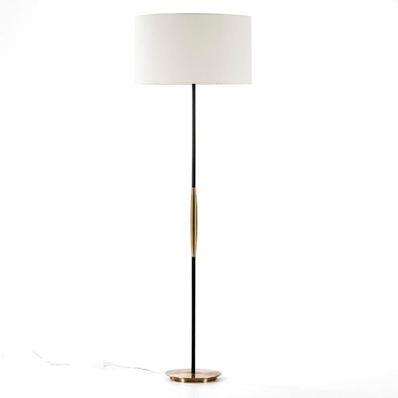 Lampada A Stelo Senza Paralume 24X140 Metallo Dorato Nero