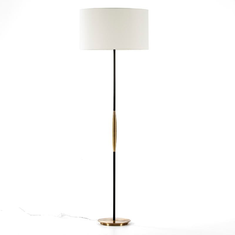 Lampadaire sans abat-jour 24x140 Métal Doré Noir - image 51214