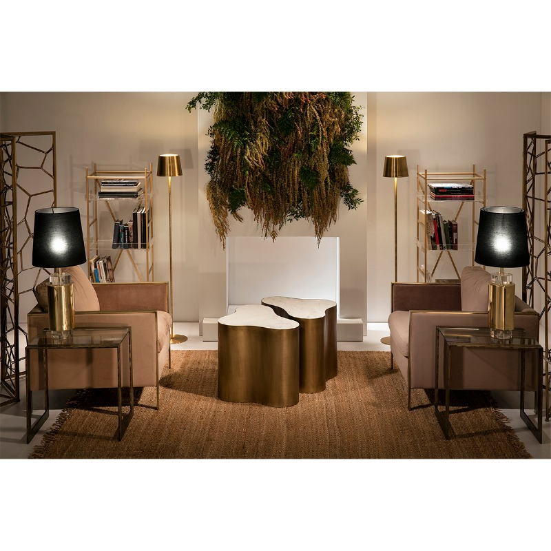 Lampe Auf Tisch Ohne Bildschirm 14X53 Acryl/Metall Golden - image 51220