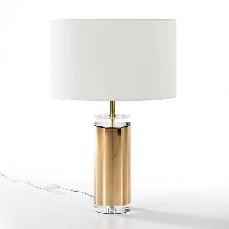 Table Lamp Without Lampshade 12X44 Acrylic Metal Golden