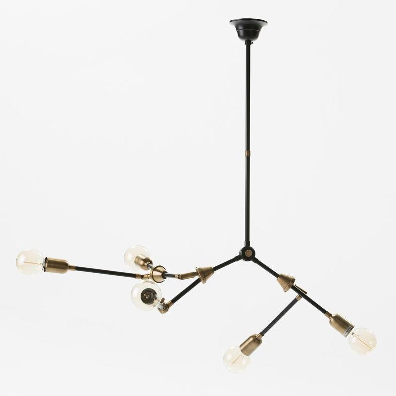 Lampe suspendue 100x6x101 Métal Doré Noir - image 51228