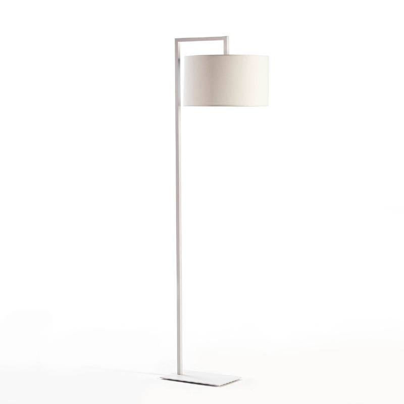 Lampada A Stelo Senza Paralume 20X35X170 Metallo Bianco