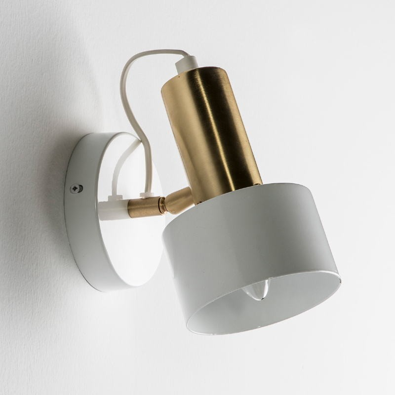 Wall Lamp 12X16X19 Metal White Golden