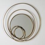 Spiegel 80X7X80 Glas/Metall Golden