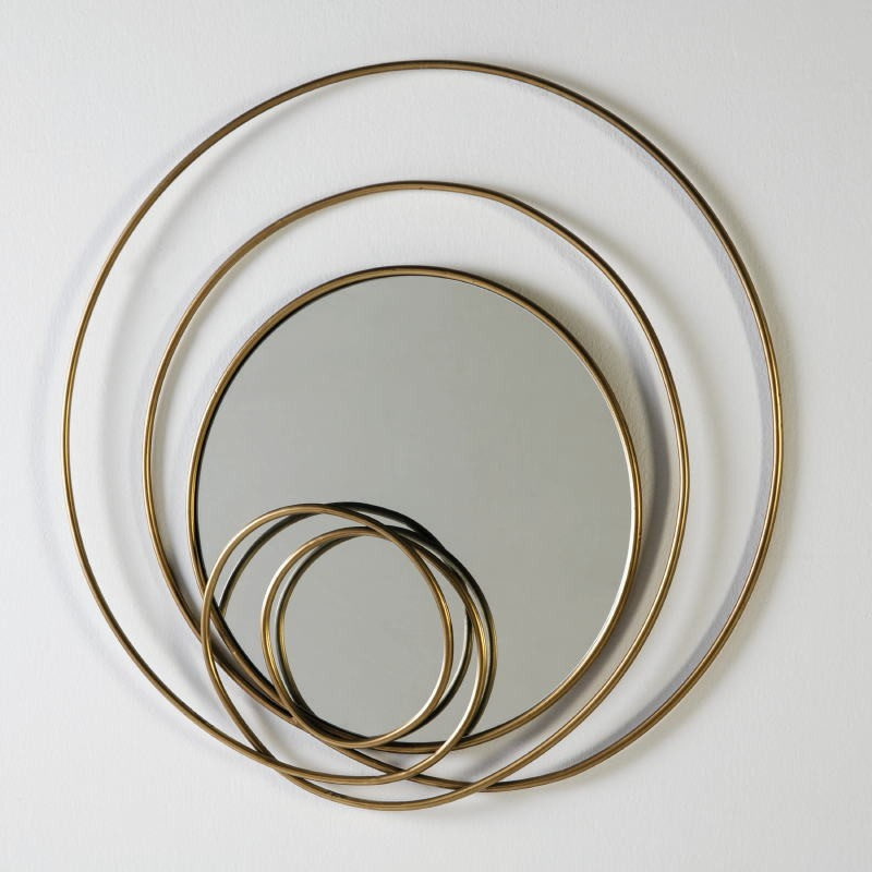 Mirror 80X7X80 Glass Metal Golden - image 51248