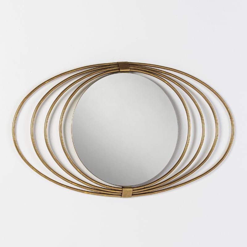 Mirror 91X3X53 Glass Metal Golden